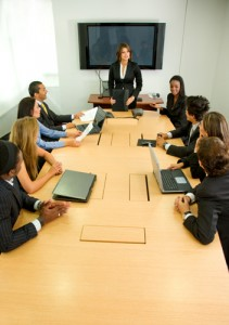 picture of a staff meeting