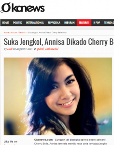 Cherry Belle photo from Indonesian celebrity website